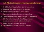 3 4 methylenedioxymethamphetamine