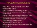 paramethoxyamphetamine