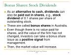 bonus shares stock dividends