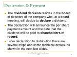 declaration payment