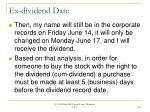 ex dividend date24