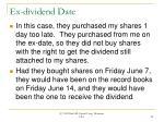 ex dividend date25