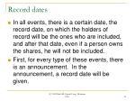 record dates21