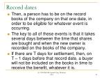 record dates22