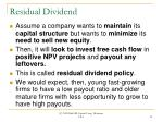 residual dividend