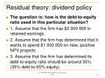 residual theory dividend policy
