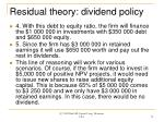 residual theory dividend policy79