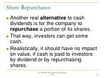 share repurchases