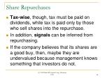 share repurchases66