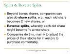 splits reverse splits