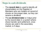 steps in cash dividends17