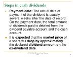 steps in cash dividends18