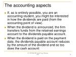 the accounting aspects