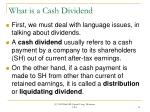 what is a cash dividend