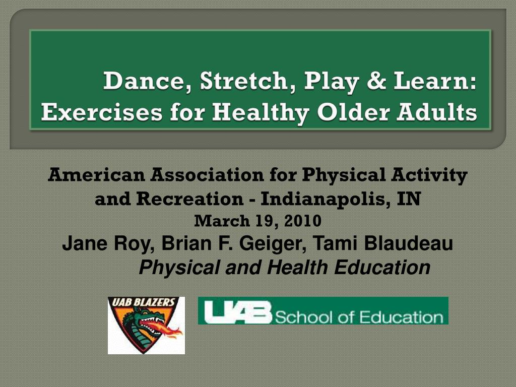 dance stretch play learn exercises for healthy older adults l.