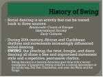 history of swing