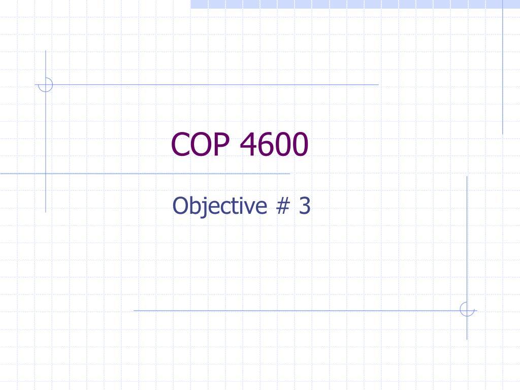 cop 4600 l.