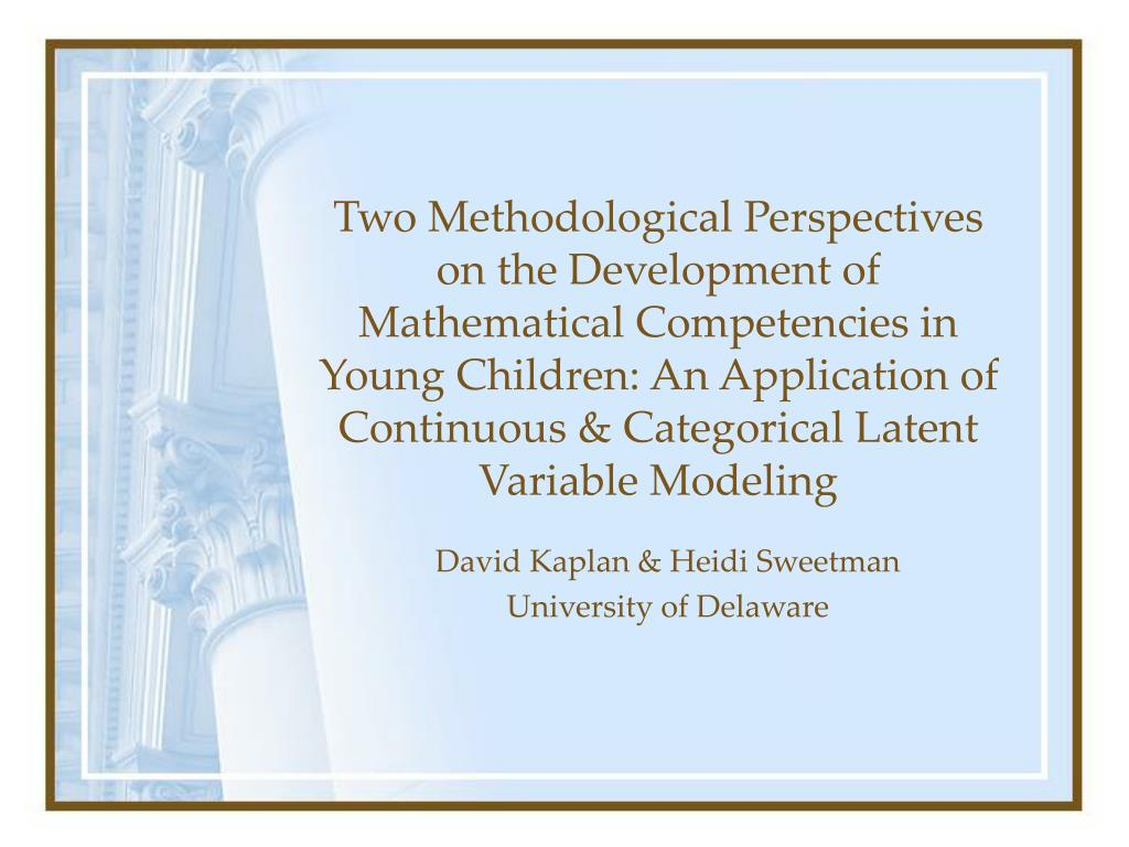 david kaplan heidi sweetman university of delaware l.