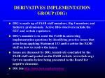 derivatives implementation group dig