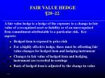 fair value hedge 20 22