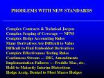problems with new standards