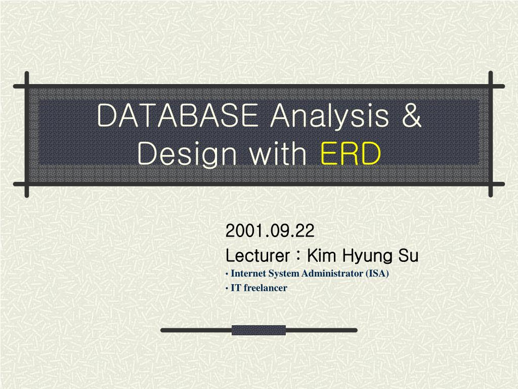 database analysis design with erd l.
