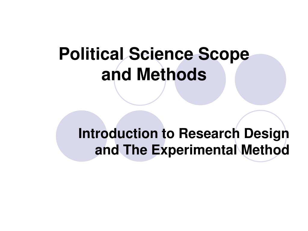 political science scope and methods l.