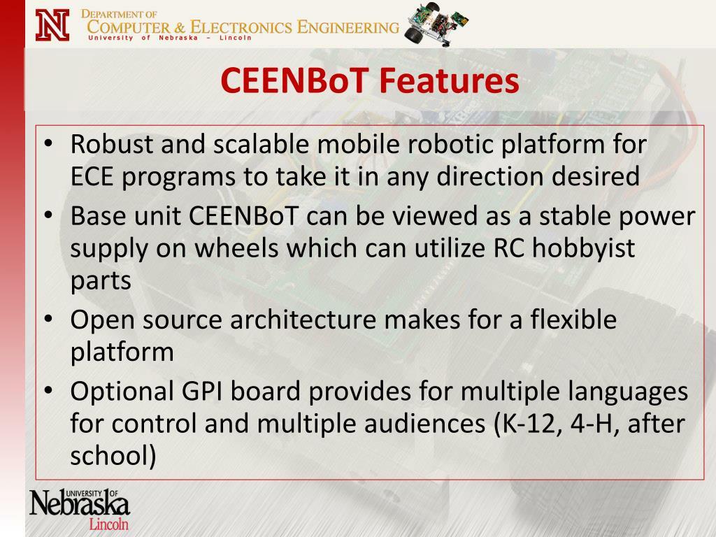 CEENBoT Features