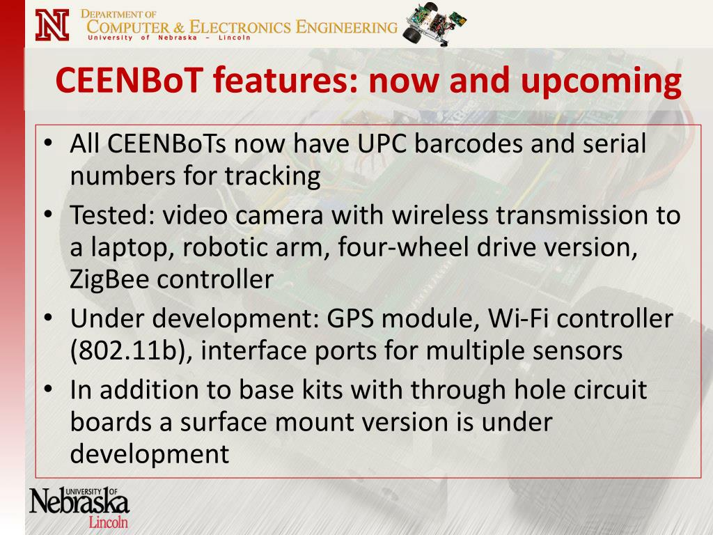 CEENBoT features: now and upcoming