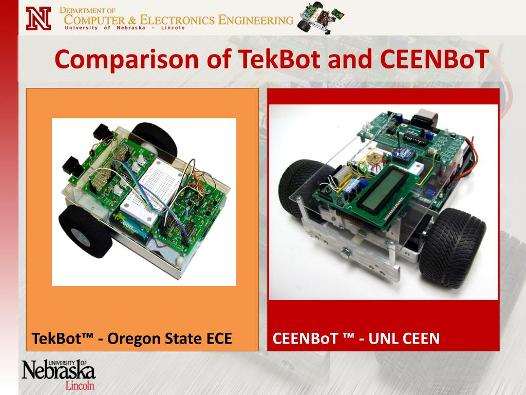 Comparison of TekBot and CEENBoT