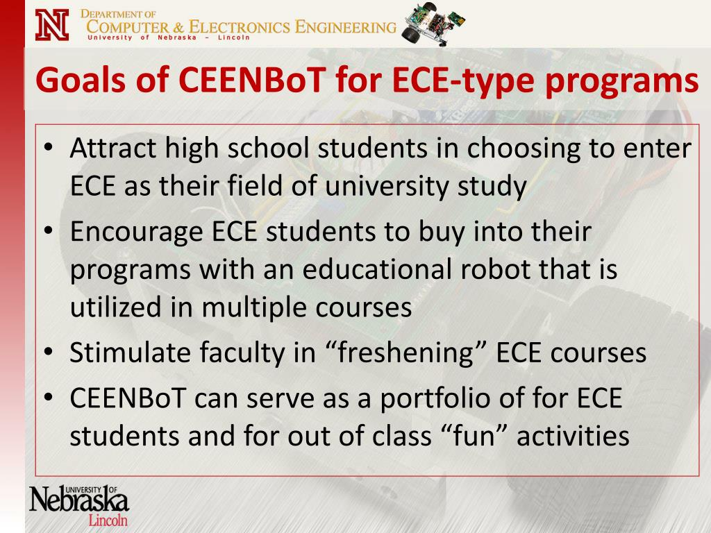 Goals of CEENBoT for ECE-type programs