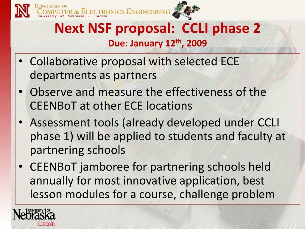 Next NSF proposal:  CCLI phase 2