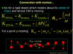 connection with motion