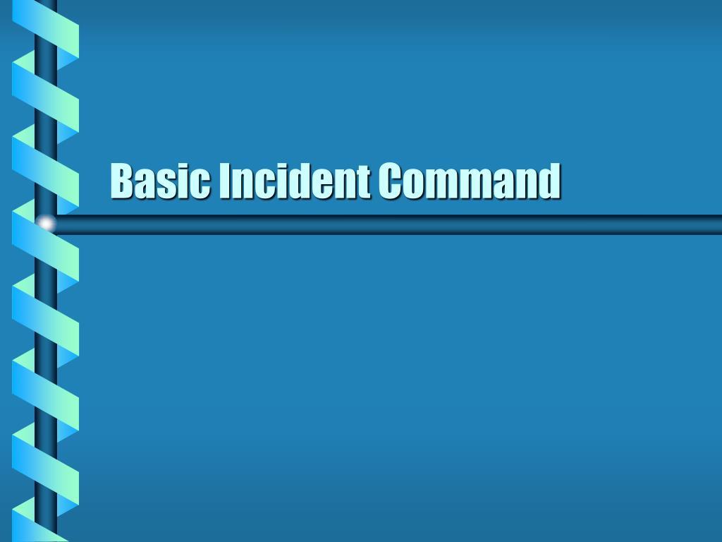 basic incident command l.