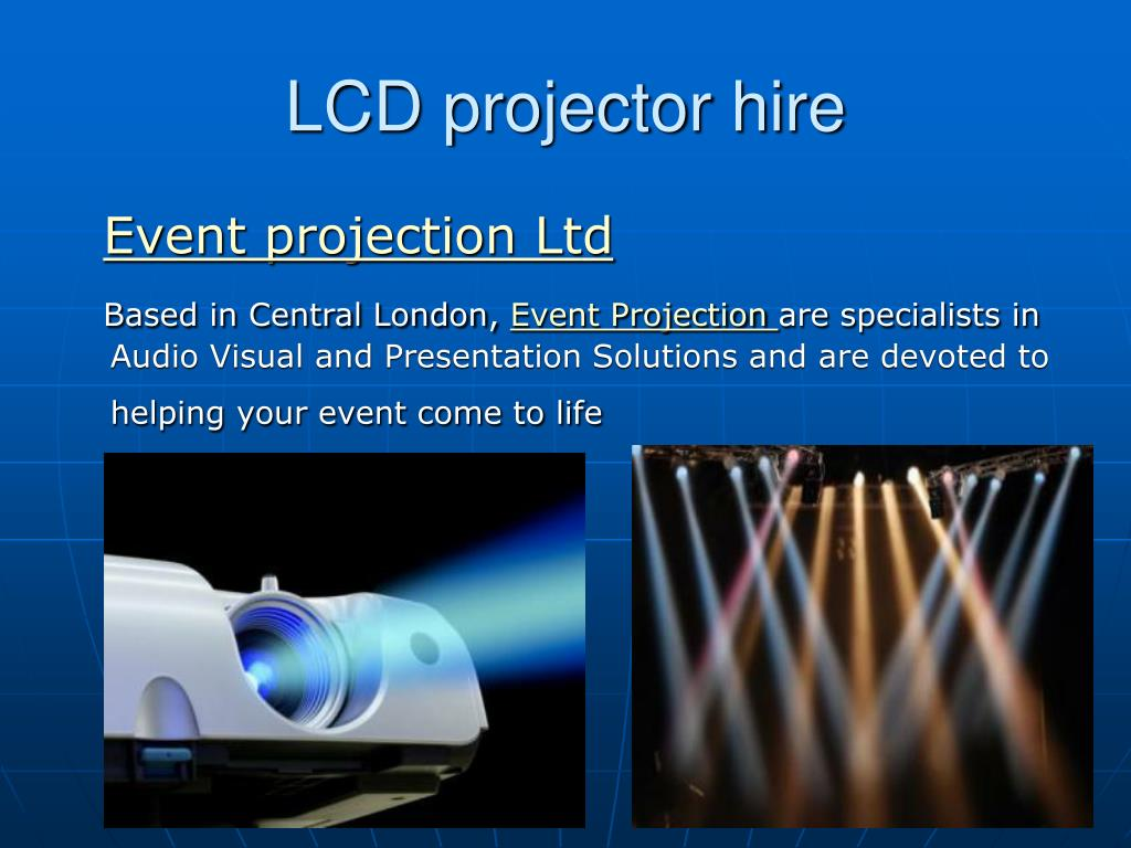 lcd projector hire l.