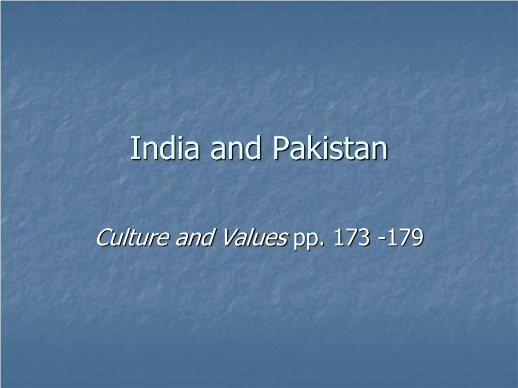 india and pakistan l.