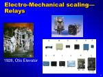 electro mechanical scaling relays
