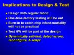 implications to design test