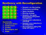 resiliency with reconfiguration