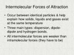 intermolecular forces of attraction