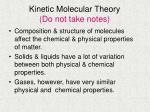 kinetic molecular theory do not take notes