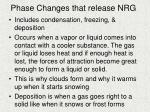 phase changes that release nrg