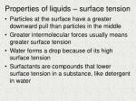 properties of liquids surface tension