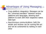 advantages of using messaging 2