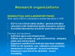research organizations43