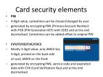 card security elements
