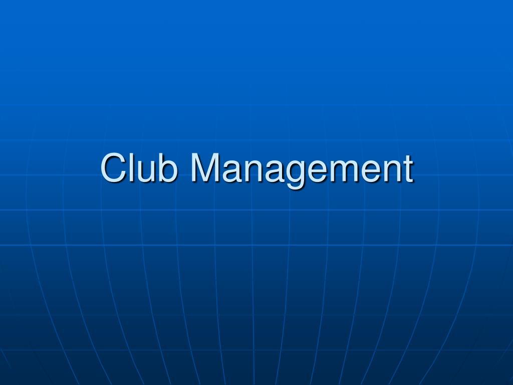 club management l.