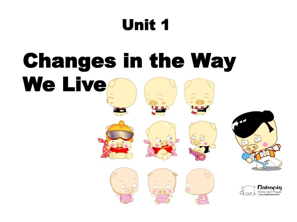 changes in the way we live l.