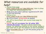 what resources are available for help
