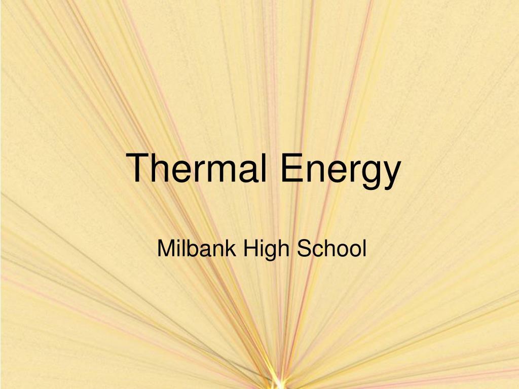 thermal energy l.